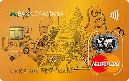 Банк Астаны — Карта «Кредитная» MasterCard Standard тенге