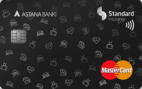Банк Астаны — Карта «Standard Insurance» MasterCard Standard доллары