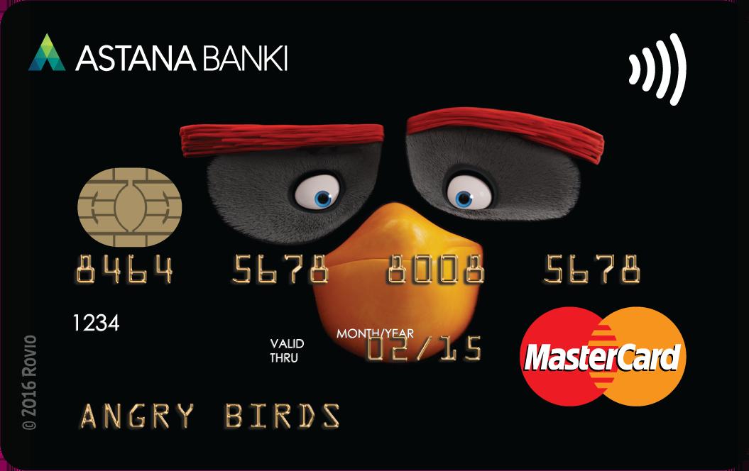 Банк Астаны — Карта «Angry Birds Black» MasterCard Standard евро
