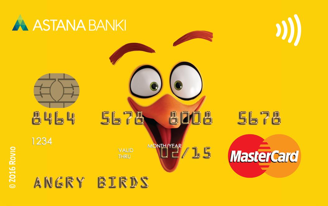 Банк Астаны — Карта «Angry Birds Yellow» MasterCard Standard доллары