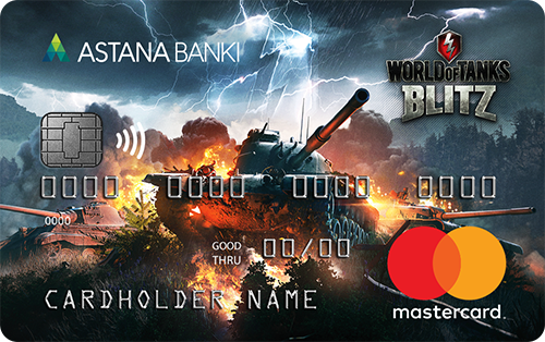 Банк Астаны — Карта «Wargaming: World of Tanks Blitz» MasterCard евро