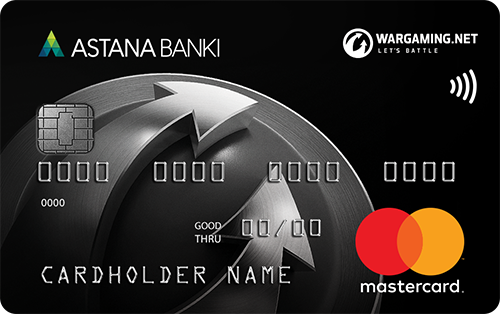 Астана банкі — «Wargaming: World Black Edition» MasterCard Black Edition доллары картасы